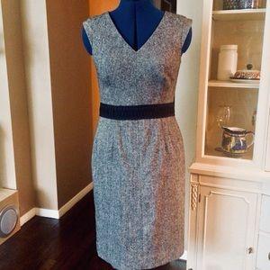 Banana Republic wool blend career dress grey tweed